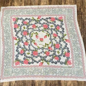 Christian Dior rose scarf silk